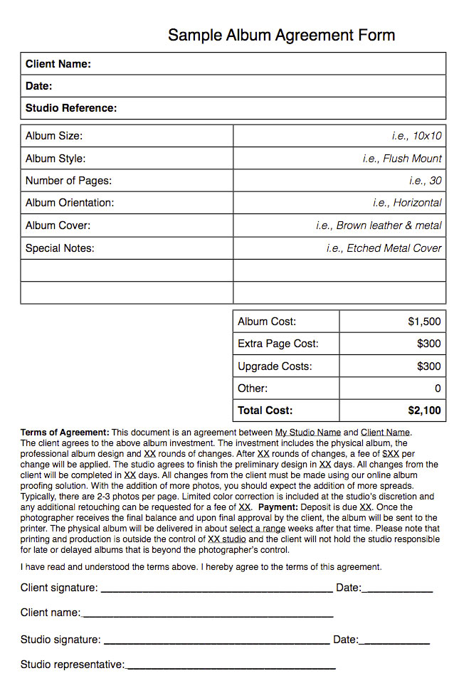 Tip Of The Week - Album Agreements Save You Time And Money - Fundy
