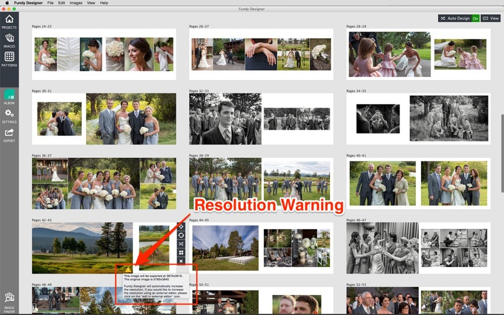 Resolution Warning in Photoshop